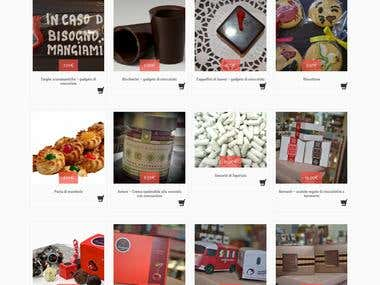 Create e-commerce for chocolate shop
