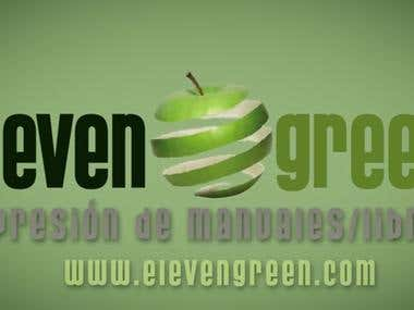 logo animation video for the company Elevengreen.