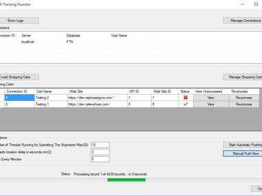 Desktop application for updating web API