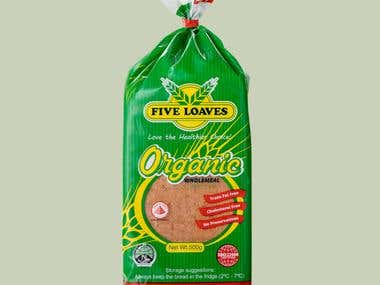 Oragnic Whole Meal Loaf Bread Packaging