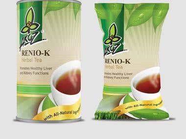 Renio-K Packaging Design