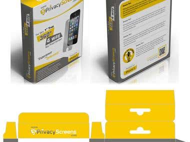 Sprivacyscreens logo & packaging Design Contest winner