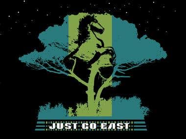 Go East Silk screen T-shirt
