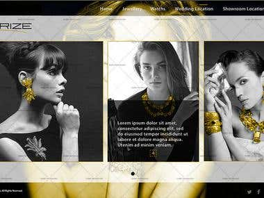 Ivorize - ALJ ( Jewellery website design)