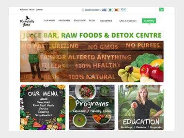 Ecommerce - Detox Juices & Raw Food Sales – UK