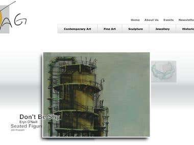 TAG Art gallery website design, SEO and development.