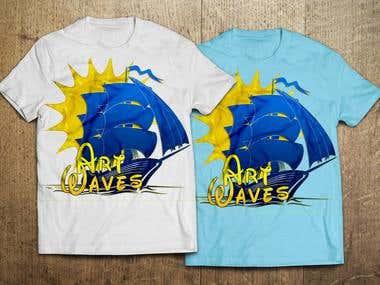 T-shirt desine for summer art festival