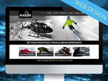 Helicopter skiing web design