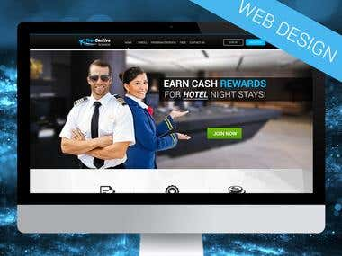 Pilot Rewards Web design
