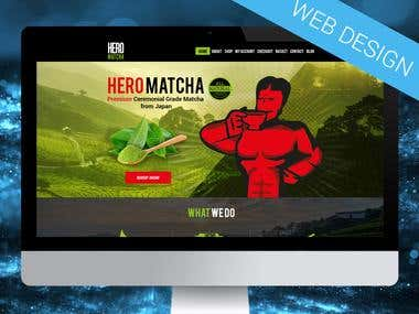 Tea web design