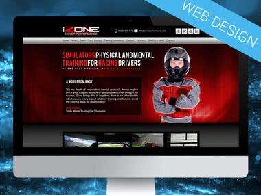 Racing simulator web design