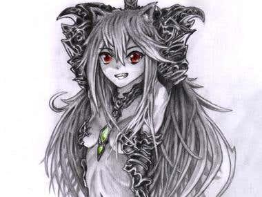 Girl with dragon glass armor
