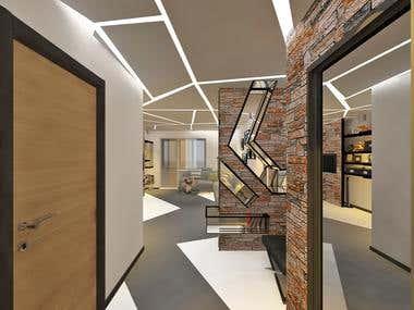 Interior design of the flat