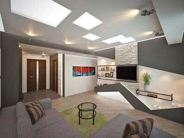 Interior design of the private appartment
