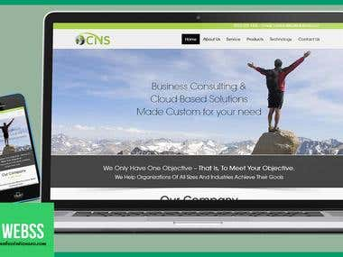 Business Services static website