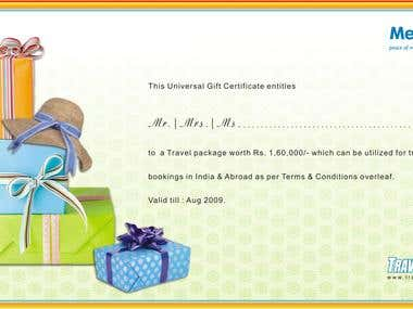 Gift Certificate for METLIFE