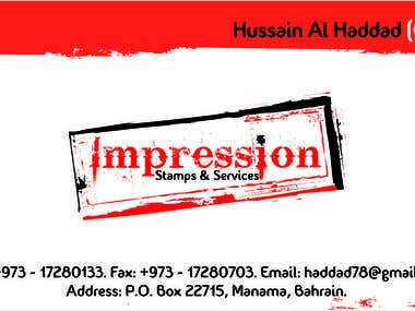 Visiting Card for Bahrain Company