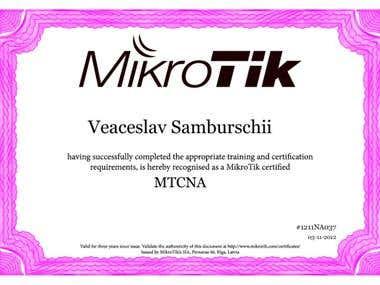 Mikrotik Certifications