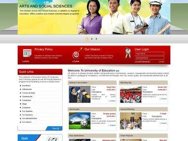 Web portal for a Govt. Institute