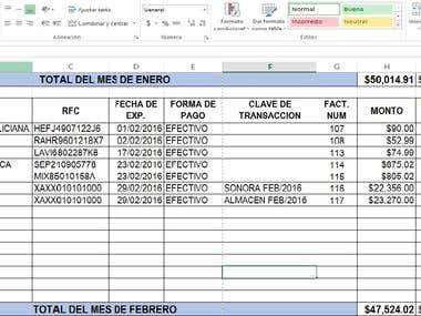 Archivo contable