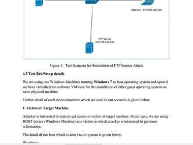 Security report on FTP attacks
