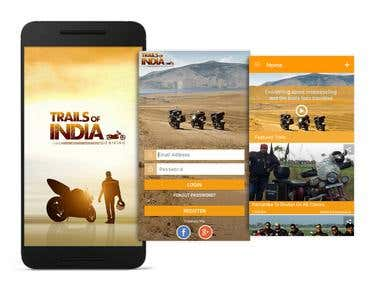 Trails Of India Android APP