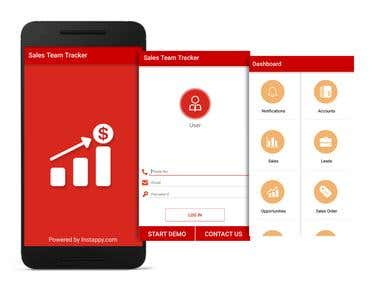 Sales Team Tracker Android App