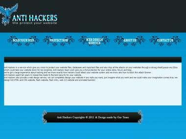 Anti Hackers website
