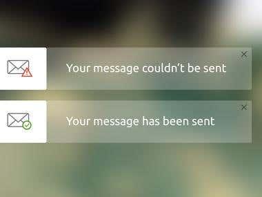 Flash Message UI Design