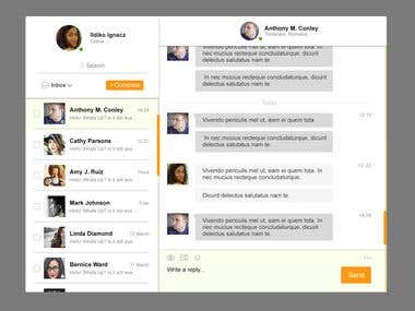 Direct Messaging UI Design