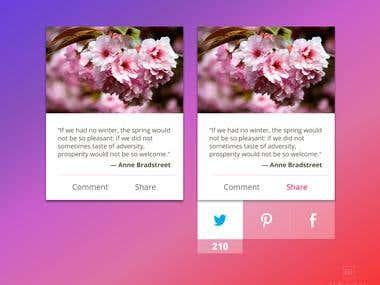 Social Share UI Design