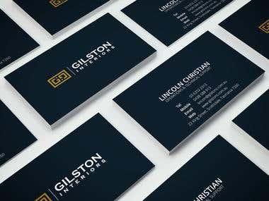 Gilston Interiors Business Cards