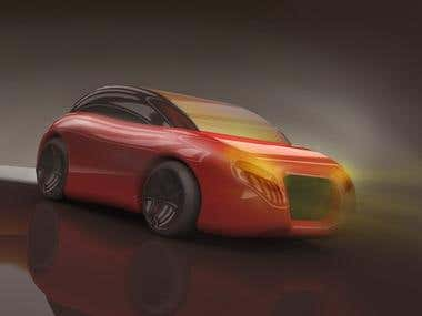 Car concept for advs.
