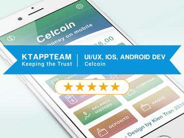 UI, UX, iOS, Android Dev for Celcoin - Money on your mobile