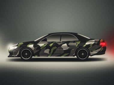 Car Wrapping Design & visualisation