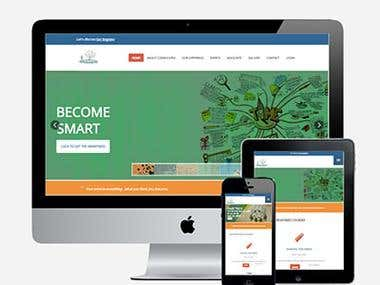 Responsive education & courses website