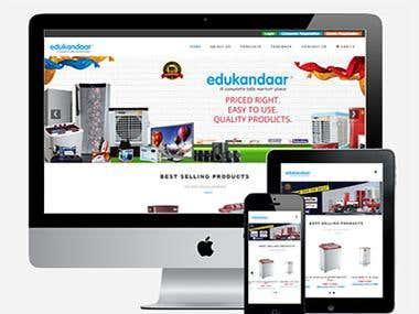 Responsive B2B web market