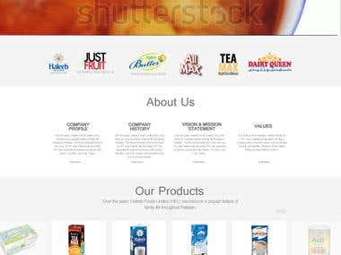 Processed Milk Company Website