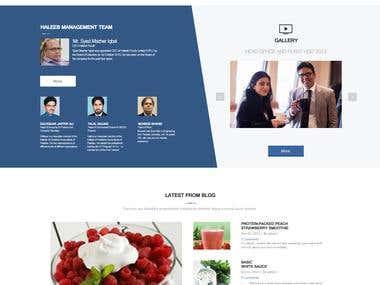 FMCG Brand Website