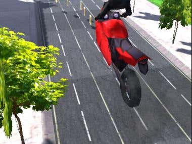 3D motocycle runner