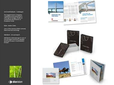 Catalogues, annual reports, packaging