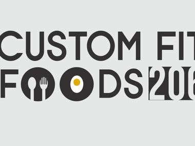 Logo Design for Custom Fit Foods 206