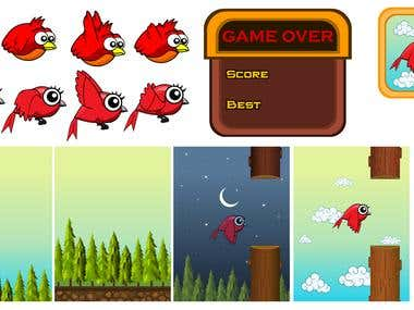 Animation & Graphics Like Flapy Bird Game