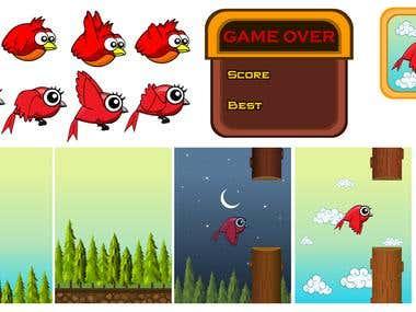 Animation & Graphics Like Flapy Bird Game
