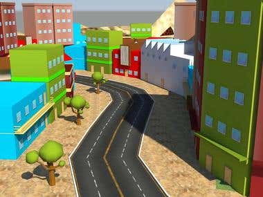 Mobile Car Game City Model