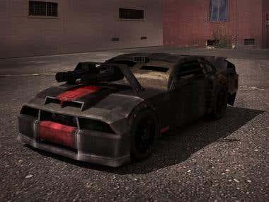 Low Poly Game Car Designing