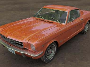 3D of a  Mustang
