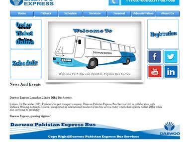 Daewoo Pakistan Express Bus E-Services