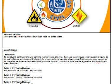 Storyboard para e-learnig de Auto-protección Civil