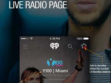 Redesign iHeartRadio – Music & Radio